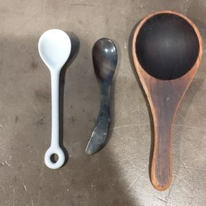 Three small kitchen spoons